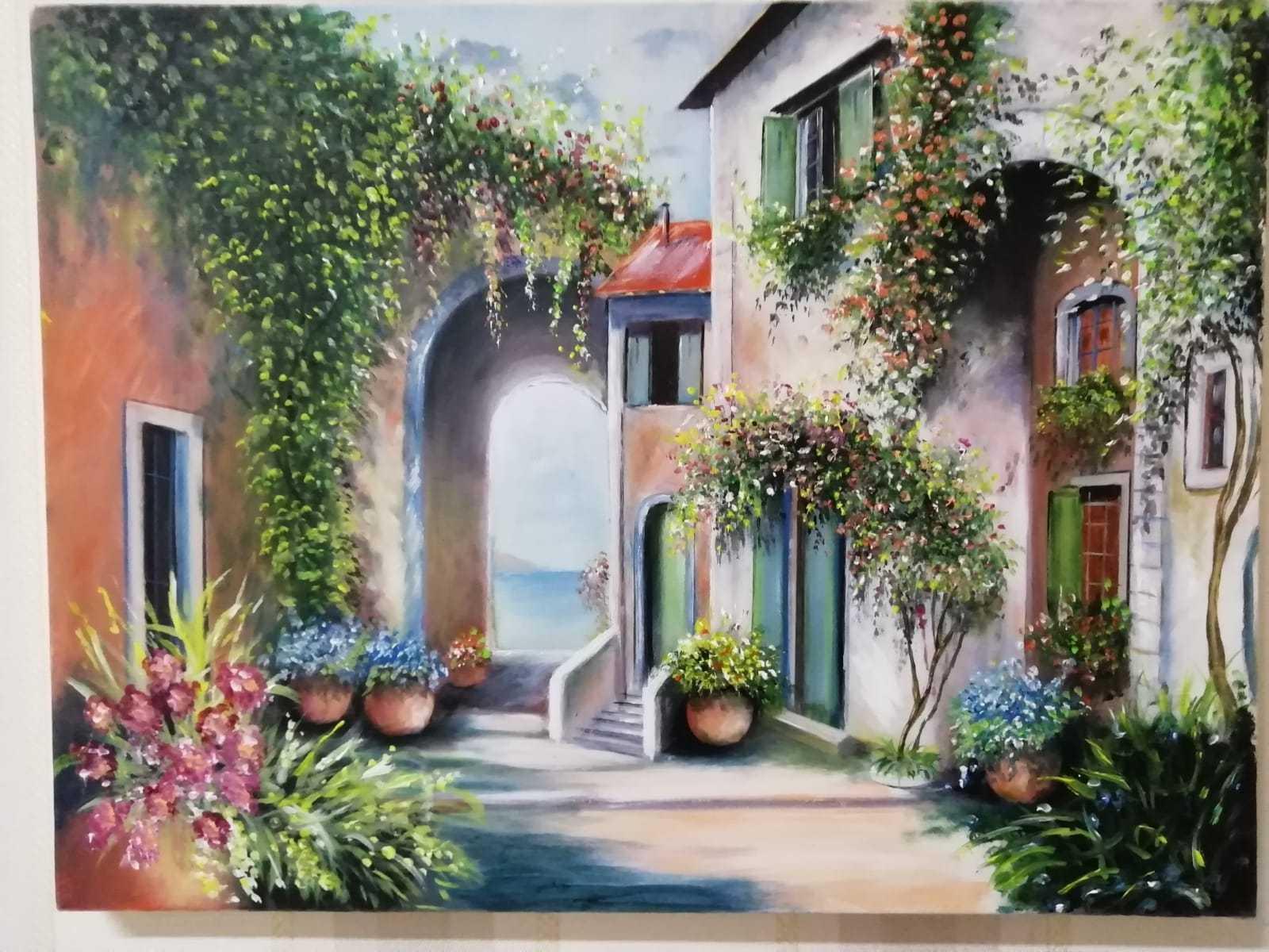 Vendita quadri: Casale sul mare (80 euro) - Opere d'arte in vendita su MediaJob.eu - Vendita quadri online