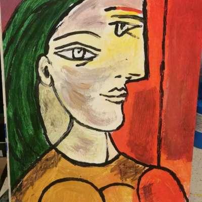 Donna con I capelli verdi Profile Picture