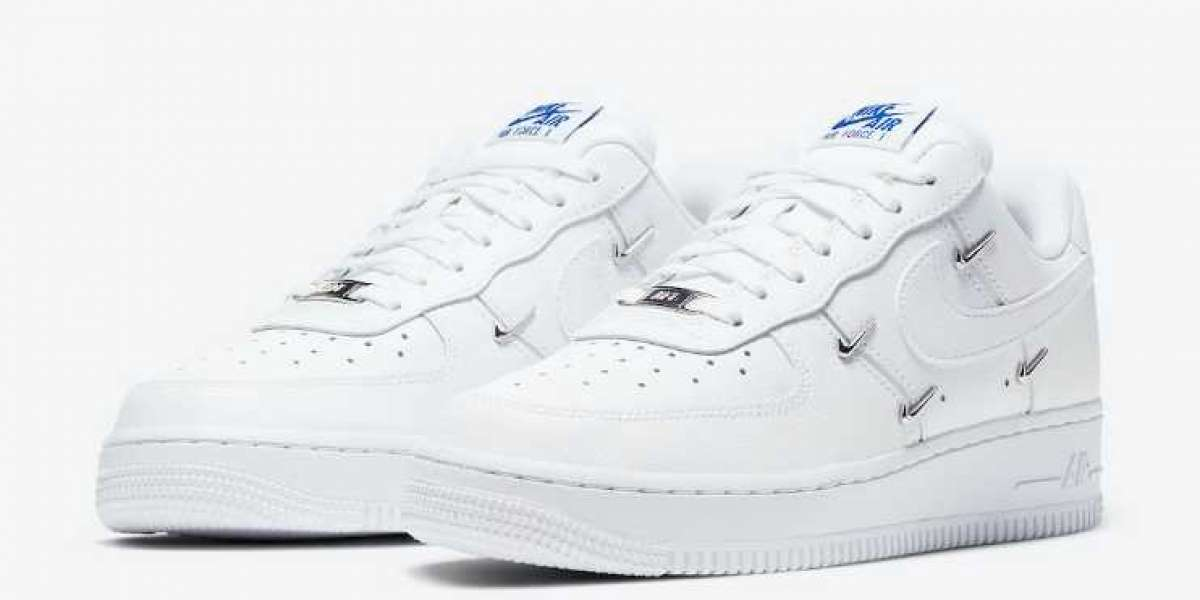 Stylish Nike Air Force 1 LX White Hyper Royal Black Coming Soon