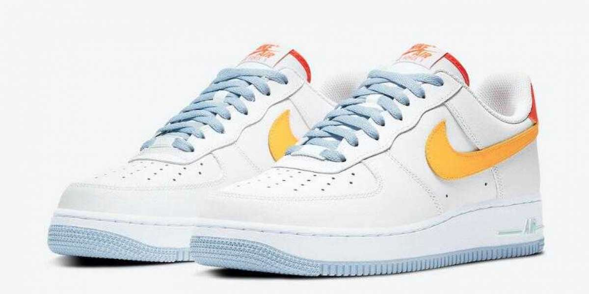 """DC2196-100 Nike Air Force 1 Low """"Be Kind"""" White Orange Coming Soon"""