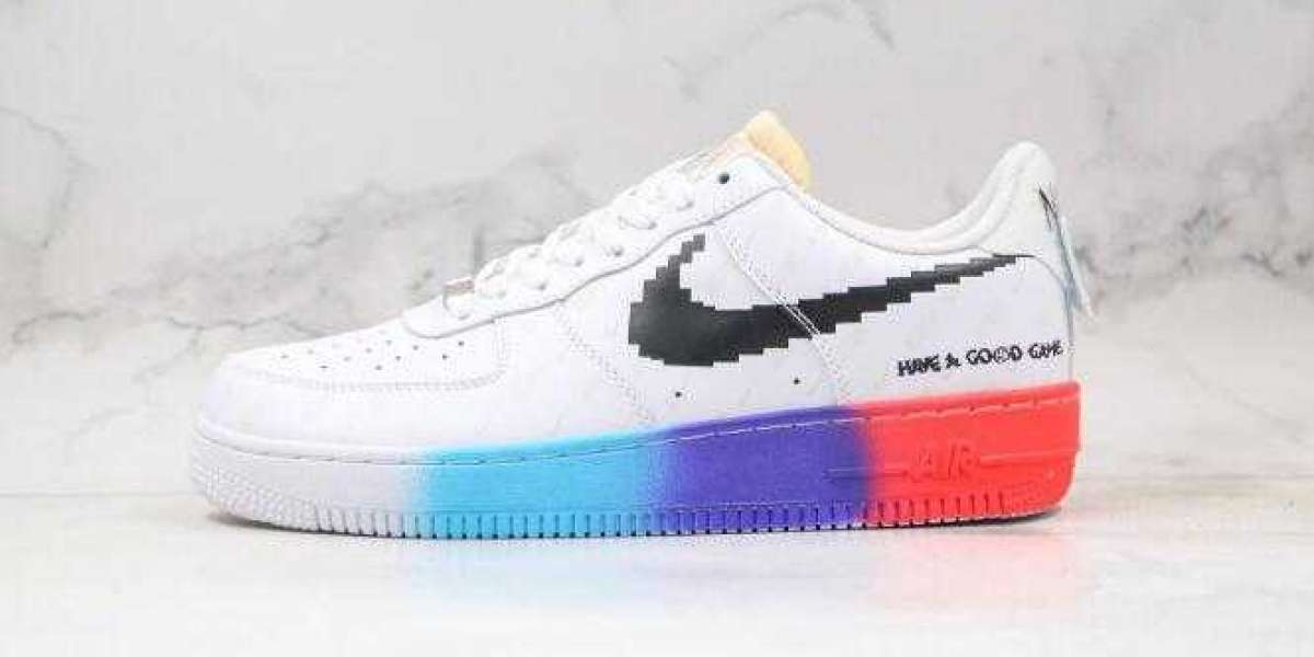 2020 New Brand Nike Air Force 1 White Gray Red for Sale