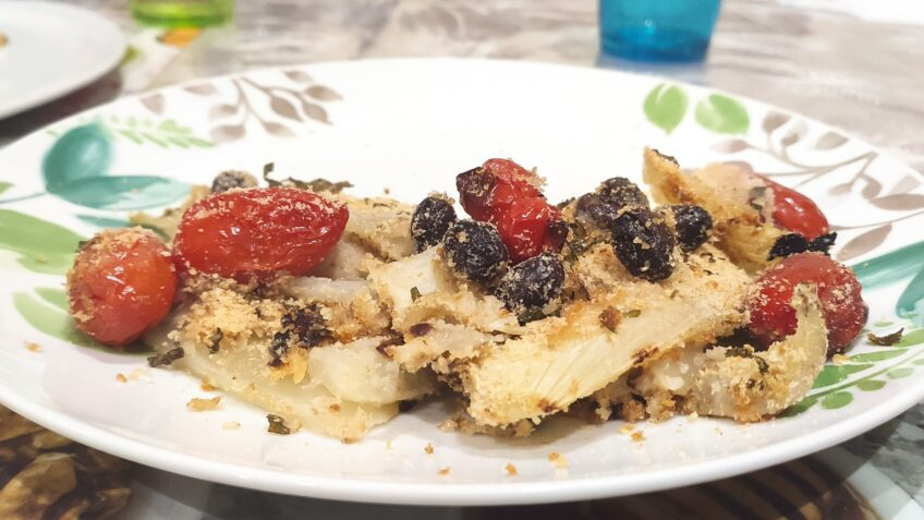 Finocchi gratinati al forno alla Mediterranea - Ricette